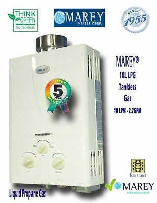 Water Heater Propane Tankless Marey GA10LP 2.7 GPM Best On-Demand