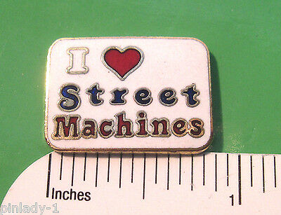 I ( heart ) love Street Machines - Hat pin ,  lapel pin , tie tac ,  GIFT BOXED