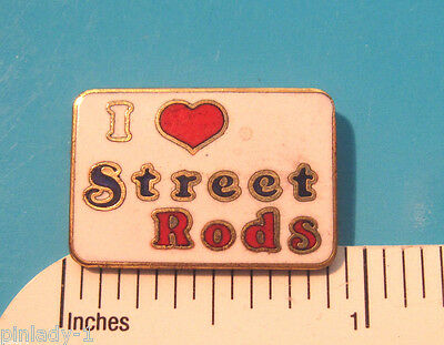 I ( heart ) love Streetrods - Hat pin ,  lapel pin , tie tac , hatpin GIFT BOXED