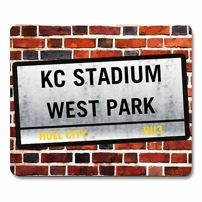 HULL CITY AFC KC STADIUM themed Street Sign MOUSEMAT PERSONALISE IT mouse mat