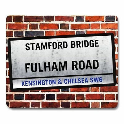 CHELSEA themed STAMFORD BRIDGE London Sign MOUSEMAT Personalised mouse mat pad