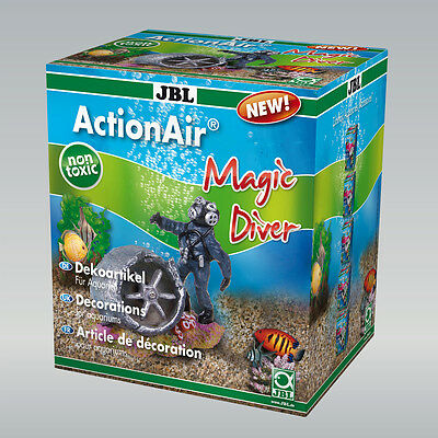 JBL ActionAir Magic Diver  Dekorations Figur für Aquarien mit Luftbetrieb