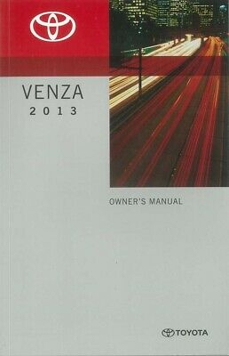2013 Toyota Venza Owners Manual User Guide