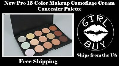 New Professional 15 Color Contour Camouflage Cream Makeup Concealer Palette