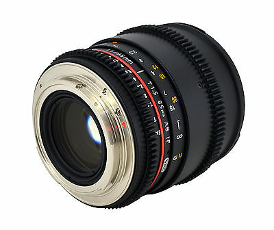 NEW LATEST Rokinon 85mm T1.5 Cine TELEPHOTO Lens for DSLR CAMERAS with CASE