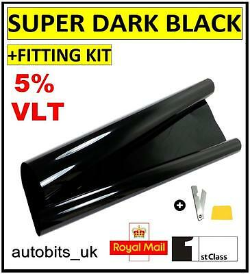 CAR WINDOW TINT FILM TINTING SUPER DARK BLACK  LIMO 5% 76cm x 6M
