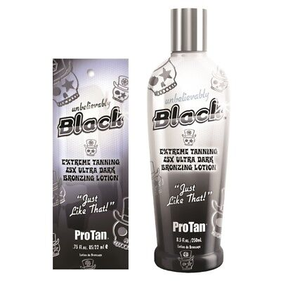Pro Tan Unbelievably Black bronzing sunbed tanning lotion cream BOTTLE or SACHET