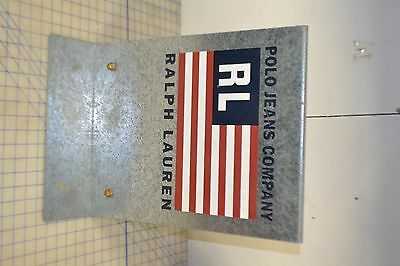sign advertising double sided galvanized ralph lauren polo jeans pants vintage
