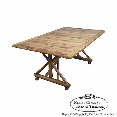 Old Hickory Shelbyville Indiana Large Rustic Trestle Dining Table