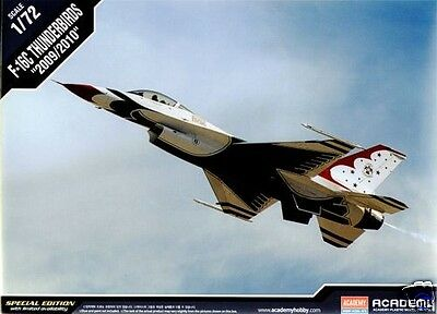 12429 Academy 1/72 Scale Model Kit F-16C Thunderbirds 2009/2010 Airfix New