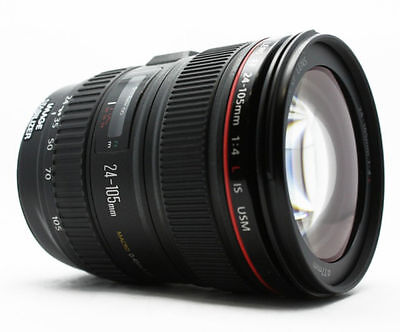 New Canon 24-105mm f/4L IS USM Lens 1-Year Canon US Warranty w/ Pouch + Hood