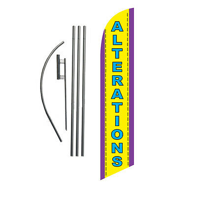 Alterations 15' Feather Banner Swooper Flag Kit with pole+spike