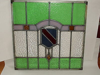 Restored Antique 1900's era Leaded Stained Glass Window from Scotland hang frame