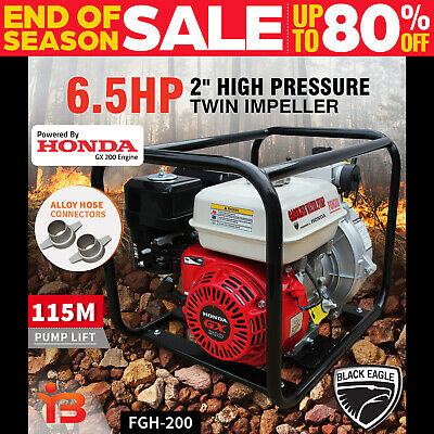 "New Honda 2"" Fire Fighting High Pressure Water Transfer Petrol Pump Irrigation"
