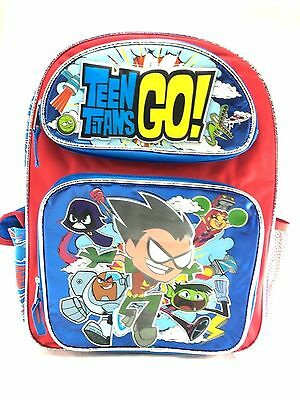 """Teen Titans Go! Large 16"""" inches School backpack - BRAND NEW - Licensed Product"""