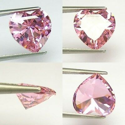 IF 9 cts Brilliant Heart (12x12 mm) Lab CZ Pink Sapphire AAA N97