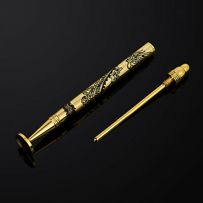 NEW Pure Copper Carved Dragon Tobacco Pipe Tamper Pipe Cleaning Tool