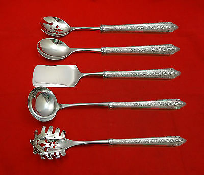 Normandie by Wallace Sterling Silver Hostess Set 5pc HHWS  Custom Made