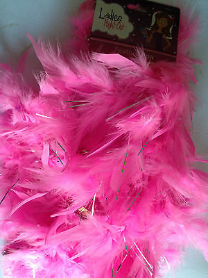"""Pink Feather Boa Burlesque Showgirl Dance Dress Hen Night Party 52"""""""