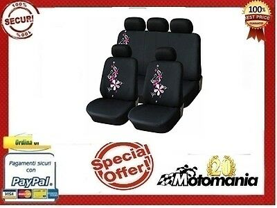 Set Completo Coprisedili Coprisedile Fodere Fodera Auto Spring Flowers Pink