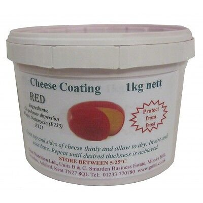 Cheese coating - red emulsion, 1kg tub.