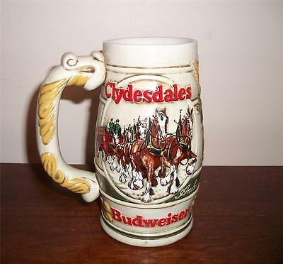 "1983 BUDWEISER HOLIDAY STEIN ""CAMEO WHEATLAND"" #CS58 by CERAMARTE"