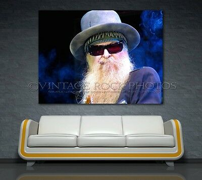 Billy Gibbons ZZ Top Photo Poster 40x60 inch Print '07 Live Concert Harris MI 1