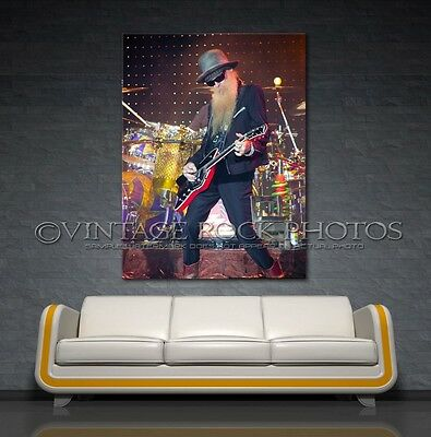 Billy Gibbons ZZ Top Photo Poster 24x36 inch Print '07 Live Concert Harris MI 29