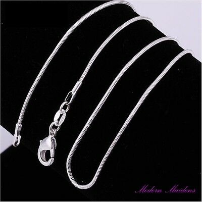 925 Sterling Silver 2MM Classic Snake Necklace Chain Wholesale Unisex 16 - 24''