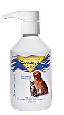 Omega-Aid Canine/Feline 250ml. Premium Service. Fast Dispatch.