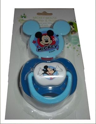 Blue Disney Mickey Mouse Clubhouse Pacifier Baby Boy Infant Newborn Toddler