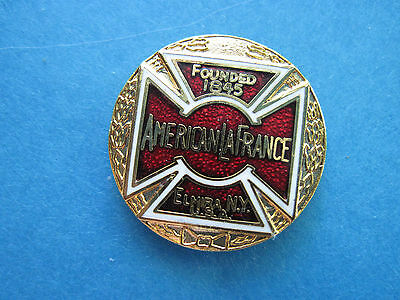 AMERICAN LA France fire  truck  fire dept.- hat pin, lapel pin badge GIFT BOXED