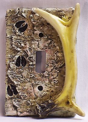 Antler & Birch Wood Look Single Light Switch Plate Cover Rustic Cabin Home (EAC)