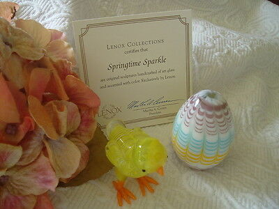 ~Lenox Collections~ Springtime Sparkle~Chick and Egg~MIB