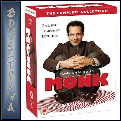 Monk - Complete Collection - Seasons 1 2 3 4 5 6 7 & 8 **Brand New Dvd Boxset***