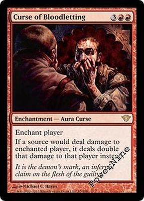 4 Curse of Bloodletting = Dark Ascension MtG Magic Red Rare 4x x4
