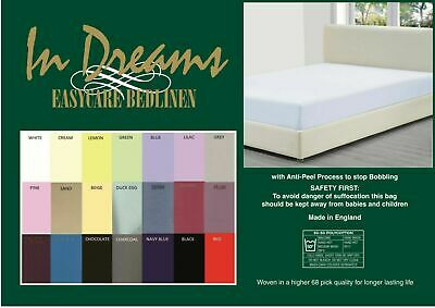 """Custom made polycotton fitted sheets 2ft 6"""" wide bed x upto 6ft 6"""" length"""