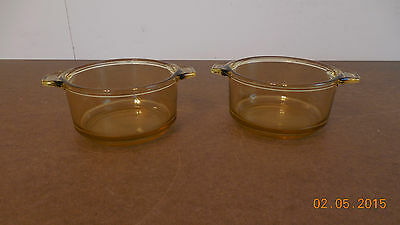 YELLOW SET OF 2 INDIVIDUAL CASSEROLE PANS MEXICO