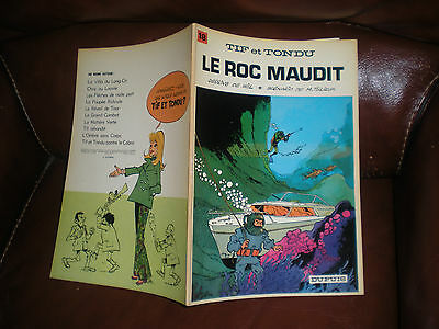 Tif Et Tondu N°18 Le Roc Maudit - Edition Originale Brochee 1972