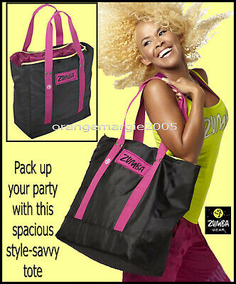 "Zumba JUMBO TOTE BAG -Gym-Travel-Stylish-DURABLE! fr.Convention-21""L x15""H x7""D"