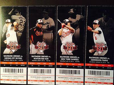 Baltimore Orioles 2014 MLB ticket stubs - One ticket - 60th Anniversary