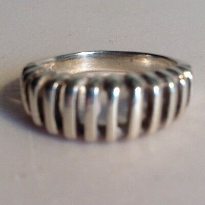 Sterling Silver Open Stripe Band Ring Size 7 .925