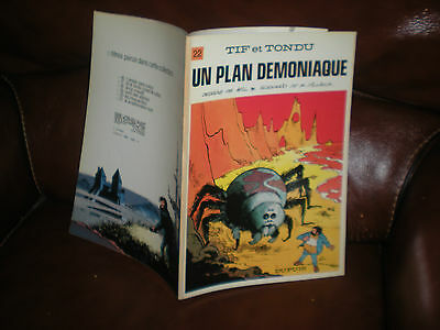 Tif Et Tondu N°22 Un Plan Demoniaque - Edition Originale Brochee 1975