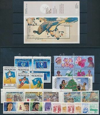 Micronesia stamp 32 stamps + 1 block MNH 1987-1989 WS161067