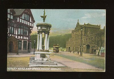 Worcs Worcestershire DUDLEY Rd Opera House Tram 1908 PPC