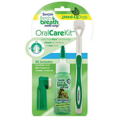 TROPICLEAN FRESH BREATH & ORAL CARE KIT FOR DOGS (& CATS)  FREE 1st CLASS POST