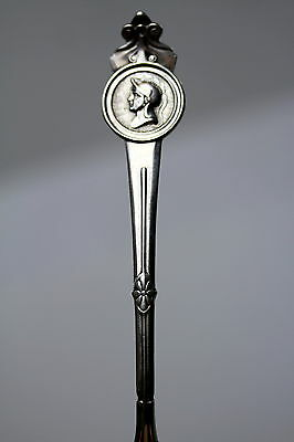 Antique Gorham Sterling Silver Spoon Roman Head Medallion pattern  Pat. 1864