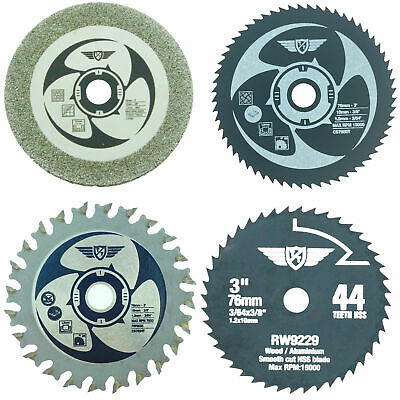 Worx 76mm HandyCut Replacement Cutting Saw Blade Set WA5031 WA5032 WA5033 WA5030