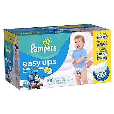 Pampers Easy Ups Training Pants, Size 2T-3T Value Pack Boys, 100 Count