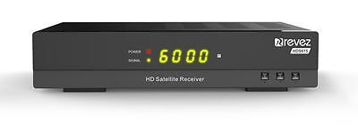 Revez HDS615 Full HD Satellite Receiver. UK Freesat Channels,Free to Air USB PVR